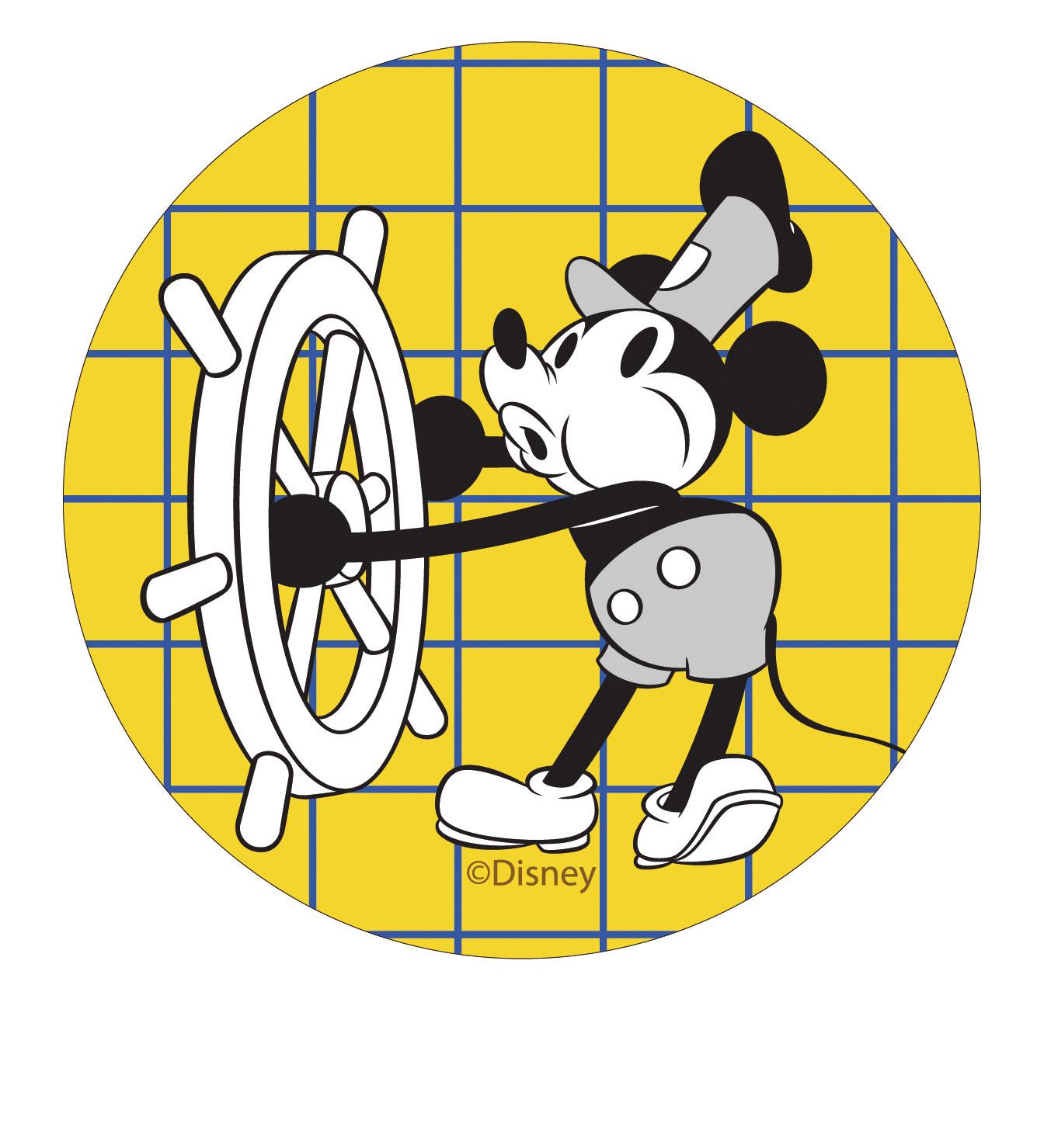 【收納王妃】迪士尼授權復古系列珪藻土吸水杯墊 (2入一組)【掌舵米奇】