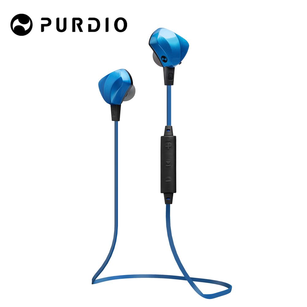 Purdio OPAL EX60藍牙無線運動耳機-寶石藍