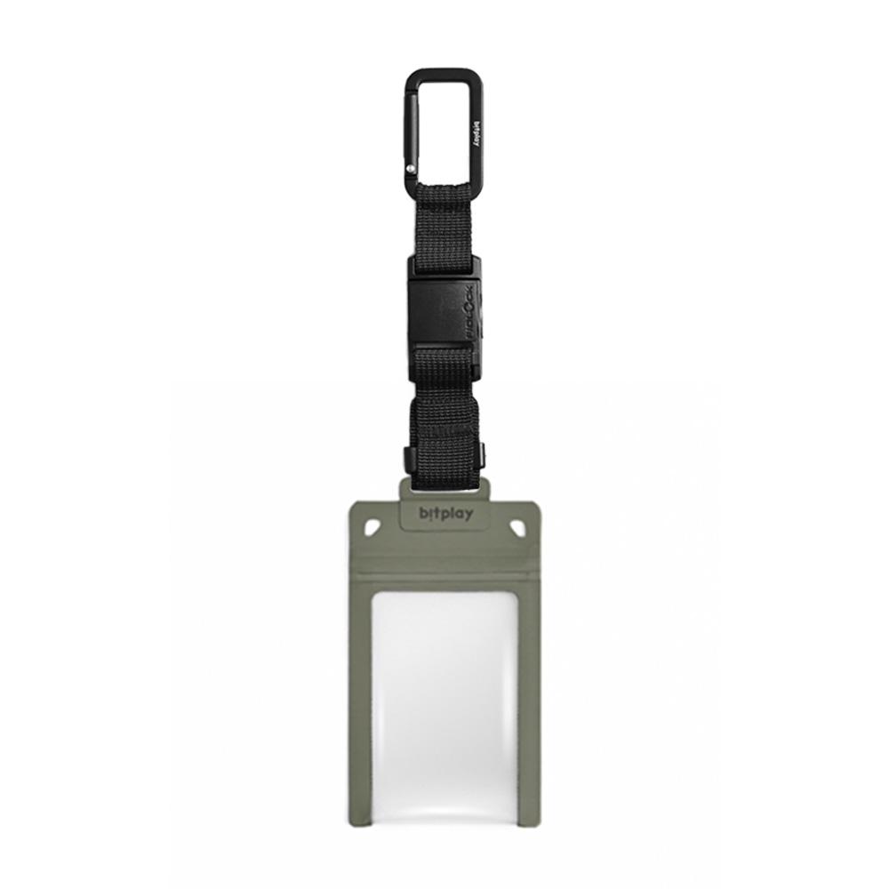 bitplay AquaSeal 防水機能證件套 - 荒野綠 + Fidlock® 瞬扣掛鉤