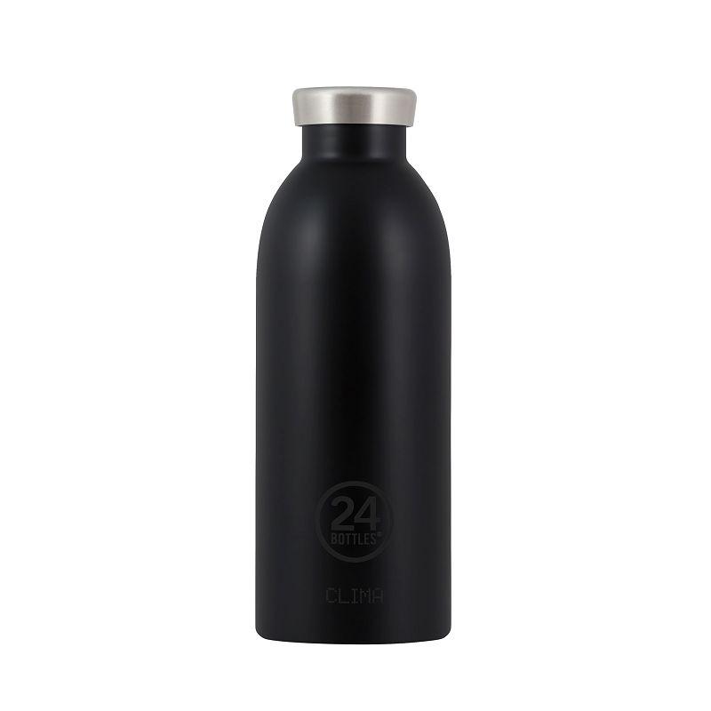 義大利 24Bottles Clima不銹鋼雙層保溫瓶 500ml - 紳士黑