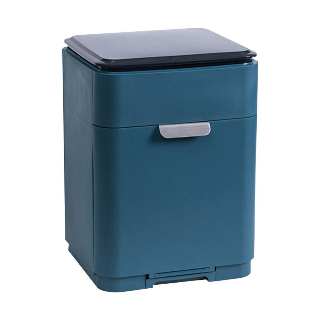 【FJ】新款日式無印雙層碗盤瀝水架(廚房必備)深藍色