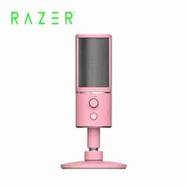 雷蛇RAZER SEIREN X QUARTZ EDITION粉晶版 魔音海妖 USB麥克風