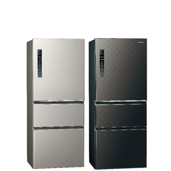 Panasonic國際牌500公升三門變頻鋼板冰箱絲紋灰NR-C500HV-L