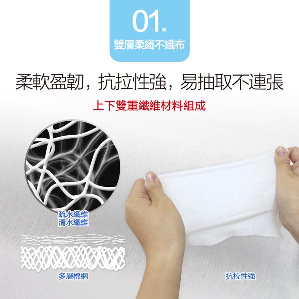 適膚克林 純水柔濕巾20抽(隨身包)X6包
