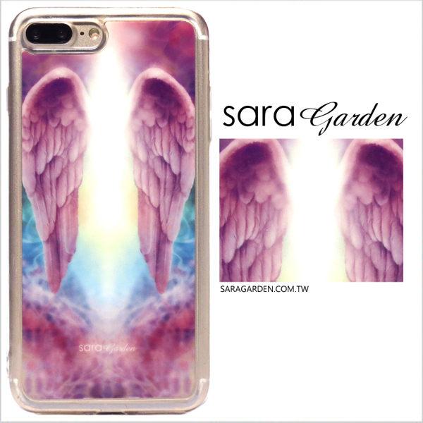 【Sara Garden】客製化 軟殼 蘋果 iPhone7 iphone8 i7 i8 4.7吋 手機殼 保護套 全包邊 掛繩孔 天使翅膀雲彩