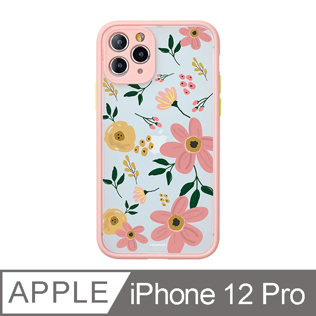 iPhone 12 Pro 6.1吋 Fleur浪漫花語霧面防摔iPhone手機殼 綿綿粉