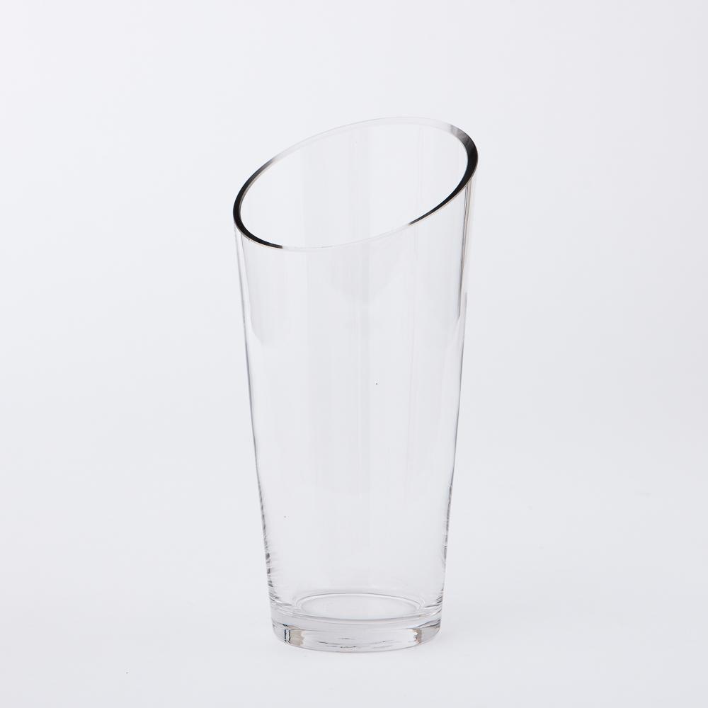 Clear斜口手工花瓶H25cm-生活工場