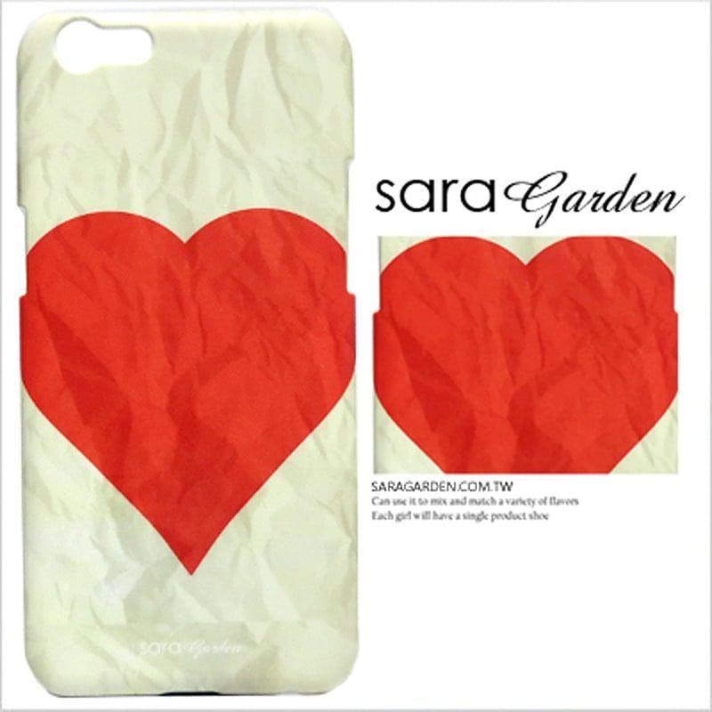 【Sara Garden】客製化 手機殼 蘋果 iPhone7 iphone8 i7 i8 4.7吋 愛心 皺褶 紙 保護殼 硬殼