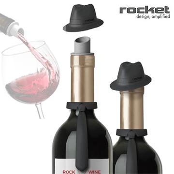 【義大利 Rocket】紳士多功能造型酒塞組
