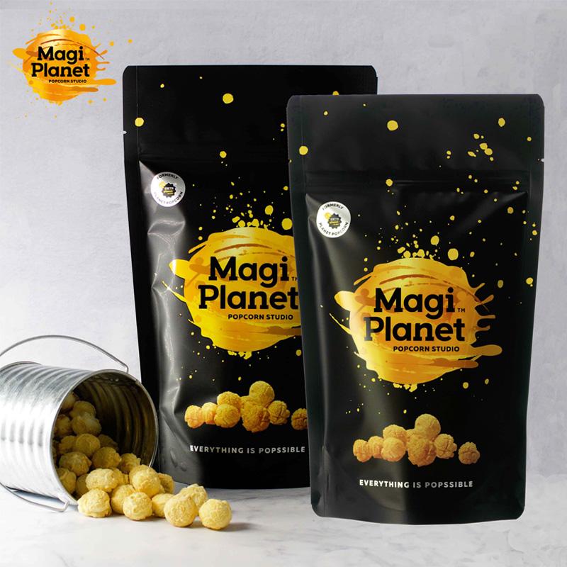 【Magi Planet星球工坊爆米花】經典分享-玫瑰鹽焦糖*1+特濃起司*1+玉米濃湯*1+川香麻辣*1 (共4入)