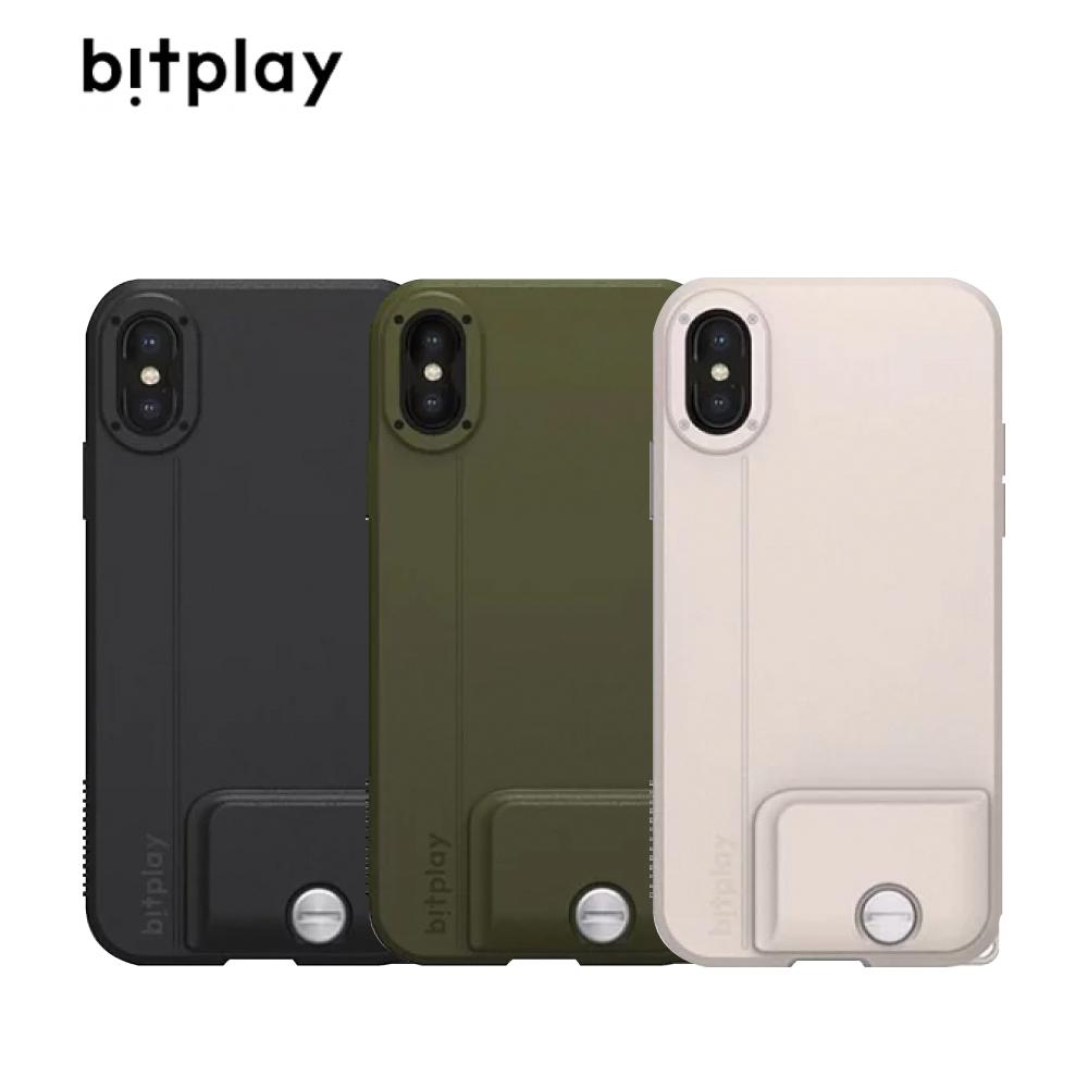 bitplay SNAP!iPhone Xs 5.8吋 外接鏡頭防摔手機殼 拿鐵色