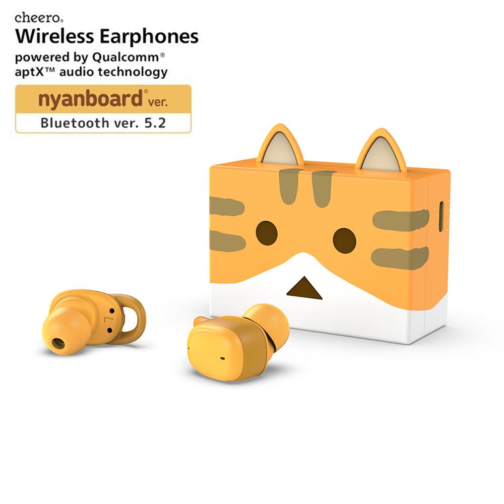 cheero貓咪阿愣藍牙5.2無線耳機 - 茶虎