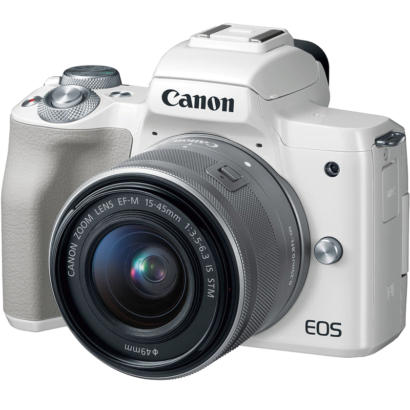 Canon EOS M50 15-45mm 變焦鏡組(公司貨)_白色-送吹球+拭鏡筆+拭鏡布