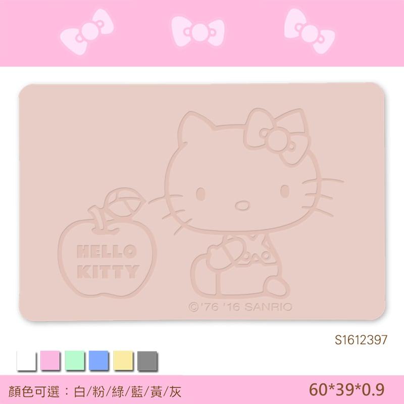 【三麗鷗獨家授權】Hello Kitty珪藻土吸水地墊//愛的蘋果-粉