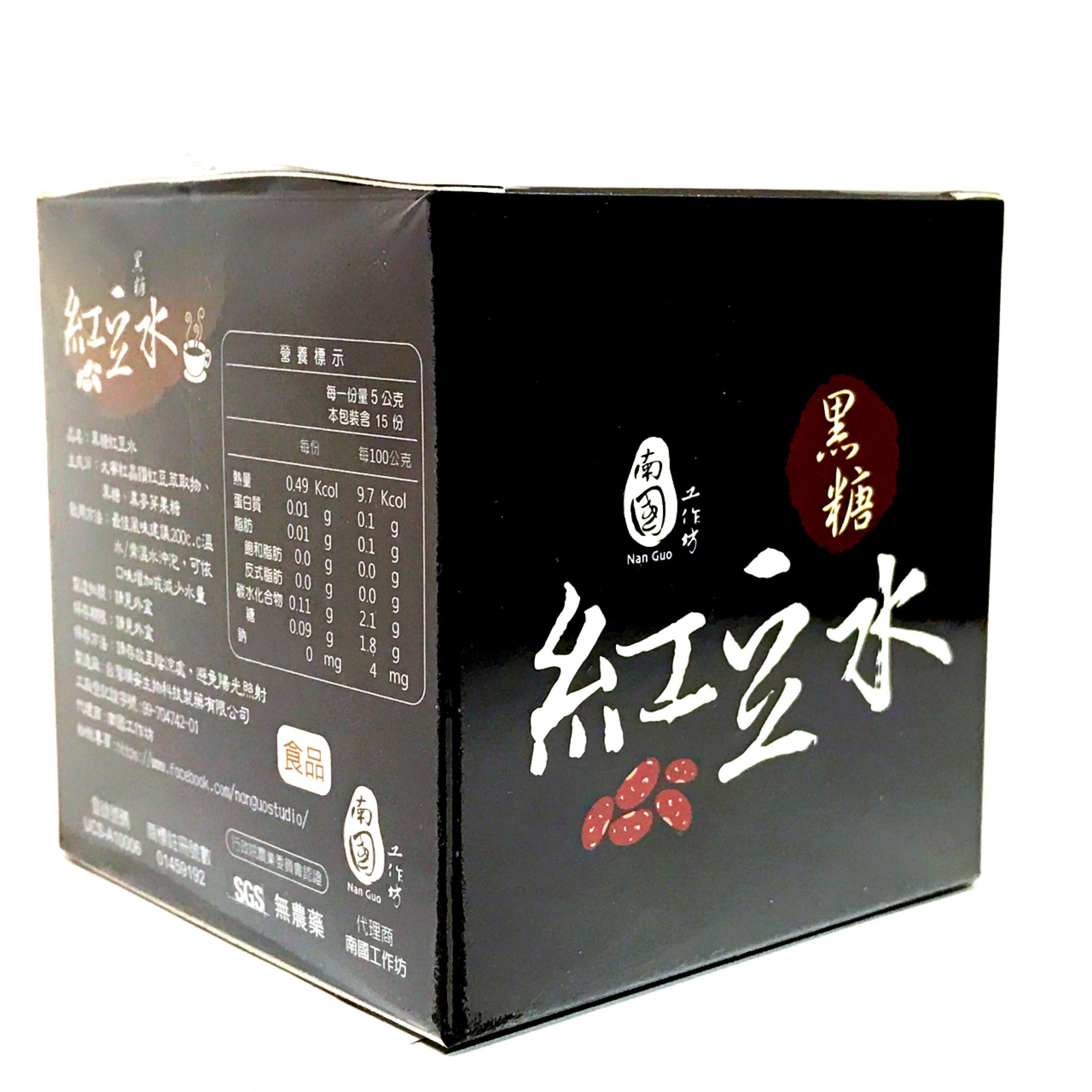 南國工作坊-黑糖紅豆水 15包/盒