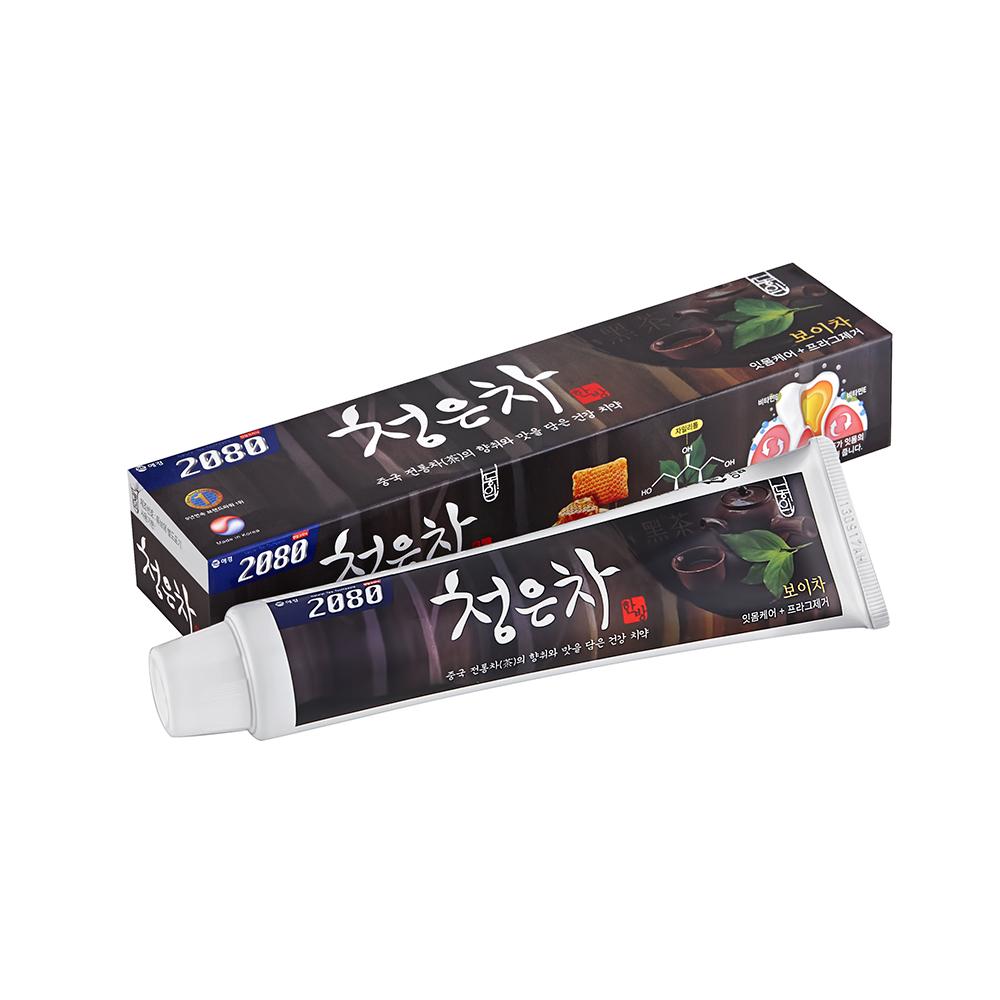 【韓國2080】清齦茶-韓方護齦茶牙膏.黑茶120gX16入