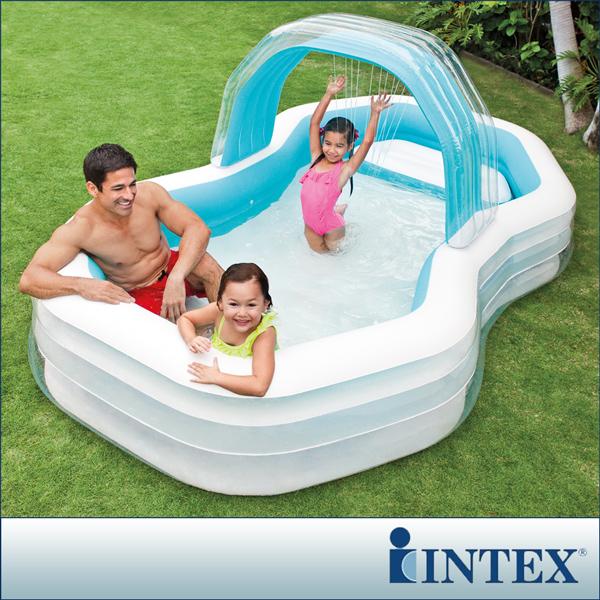 【INTEX】家庭戲水噴水小屋游泳池(310x188CM)(700L)(57198)
