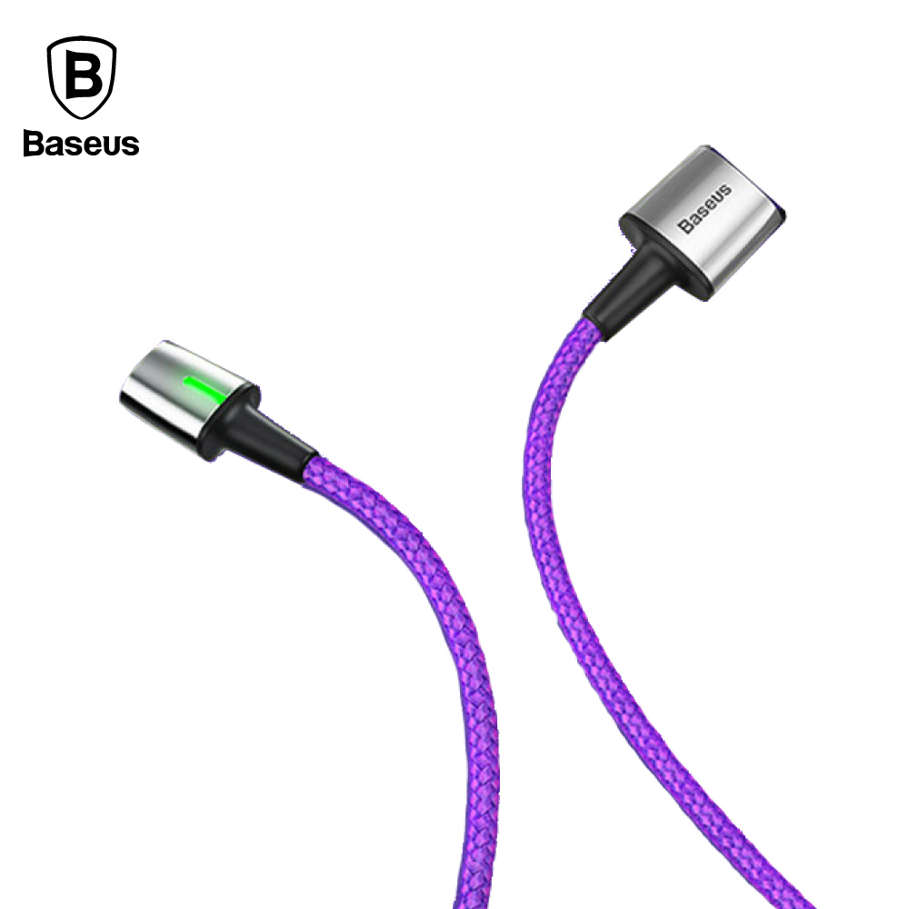 Baseus 倍思 Lightning 鋅磁編織傳輸線 (2M) - 紫色