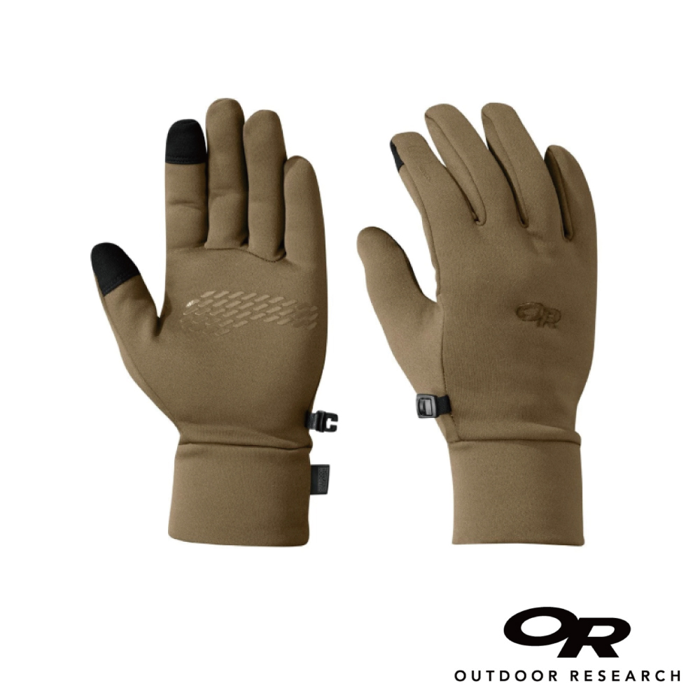 【美國Outdoor Research】狼棕M-男款戶外多用途快乾保暖觸控手套