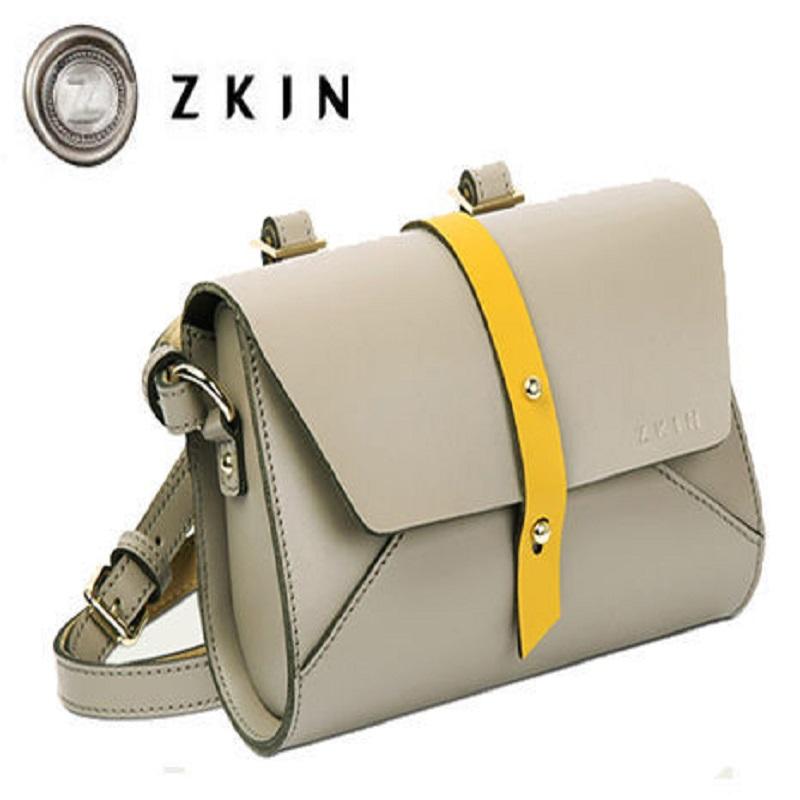 [母親節優惠] ZKIN Harpy 時尚 輕巧包包 真皮材質 品虹公司貨 岩灰