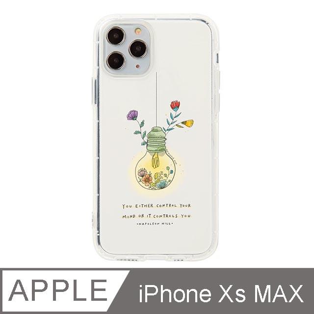 iPhone Xs Max 6.5吋 Mandie園藝小日子插畫防摔iPhone手機殼 燈泡花