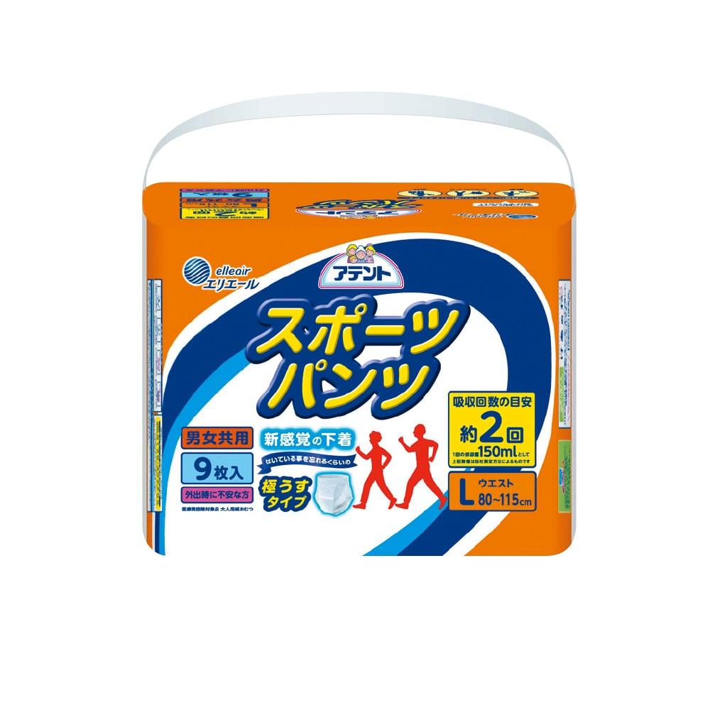 日本大王 Attento超薄舒適運動褲L 9片/包x6包(成箱出貨)
