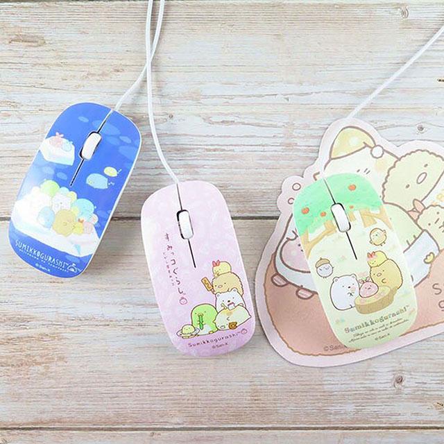 角落小夥伴/角落生物 粉彩有線USB光學滑鼠(粉紅)