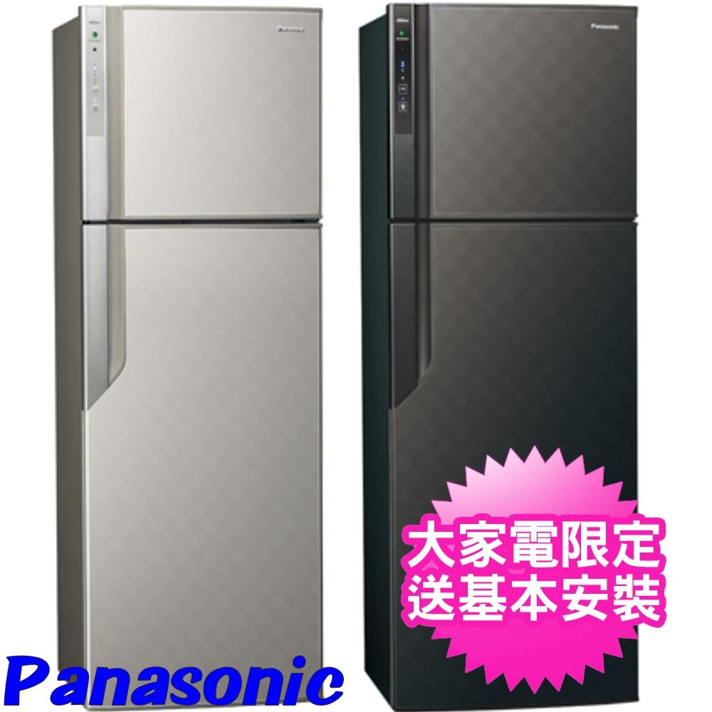 【Panasonic國際牌】485公升智慧節能變頻雙門冰箱 - 星空黑 NR-B489GV-K
