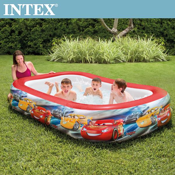 【INTEX】CARS麥坤-長方型游泳池262*175*56cm(770L)適用6歲+(57478)