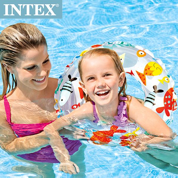 【INTEX】海底世界游泳圈直徑51cm(圖案隨機) 適用:3~6歲(59230)