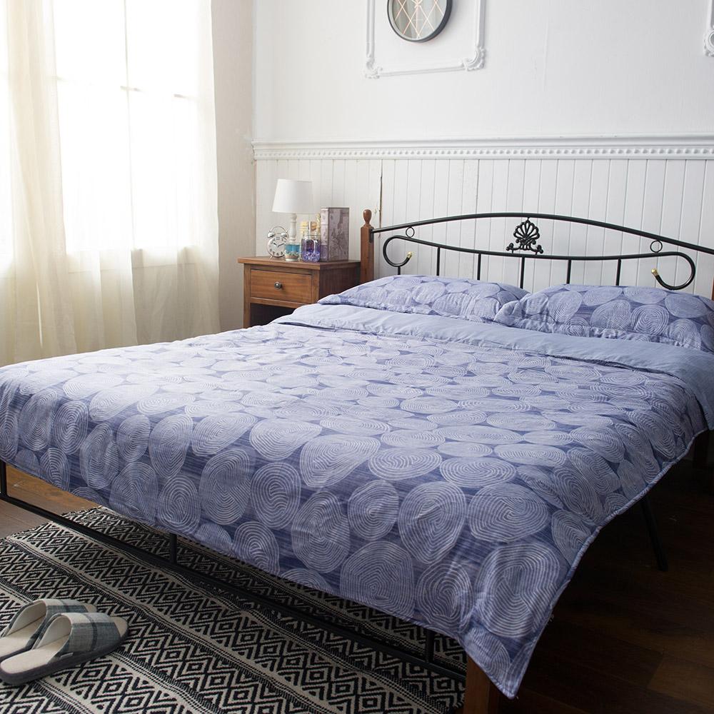 3M吸濕排汗四件雙人舖棉床組-藍-生活工場