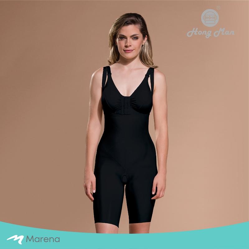 MARENA 強效完美塑形系列 腹部加強美體膝上型塑身衣(黑色-XS)