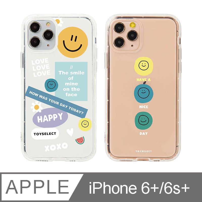 iPhone 6/6s Plus 5.5吋 Smilie微笑淡彩 拼貼透明防摔iPhone手機殼 拼貼