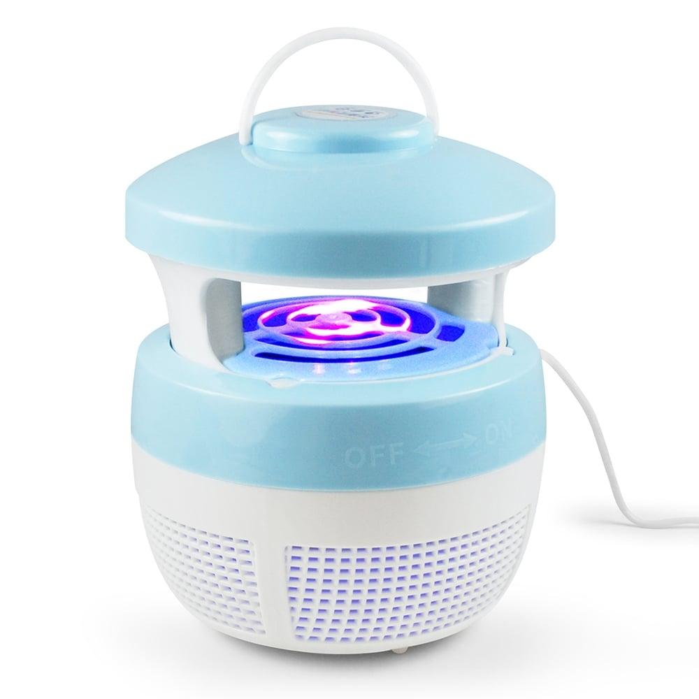 最新可吊掛型 USB光觸媒吸入式捕蚊燈-藍色