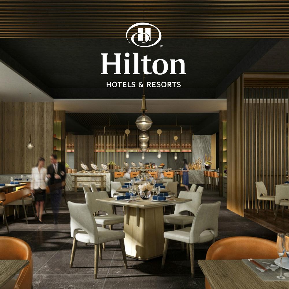 台北新板希爾頓酒店-悅.市集 平日晚餐吃到飽餐券-2張組