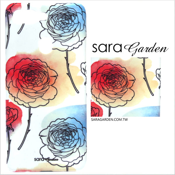 【Sara Garden】客製化 手機殼 Samsung 三星 Note10 保護殼 硬殼 漸層玫瑰碎花