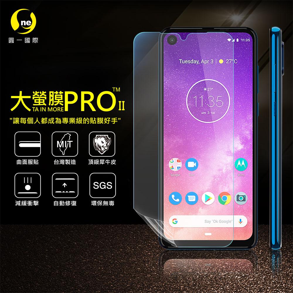 O-ONE旗艦店 大螢膜PRO MOTOROLA One Vision Plus 螢幕保護貼 亮面透明 台灣生產高規犀牛皮螢幕抗衝擊修復膜