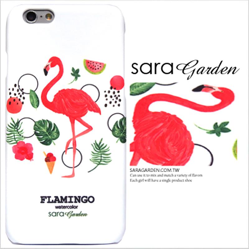 【Sara Garden】客製化 手機殼 HTC A9 夏日 熱帶 水彩 紅鶴 保護殼 硬殼 限定