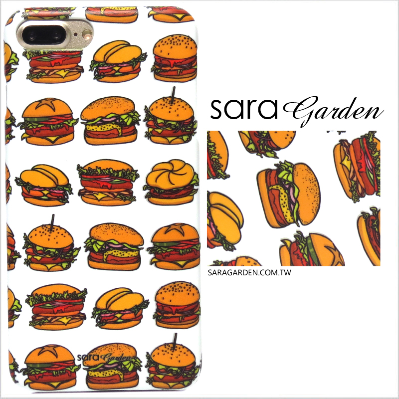 【Sara Garden】客製化 手機殼 SONY XA2 手繪漢堡 手工 保護殼 硬殼