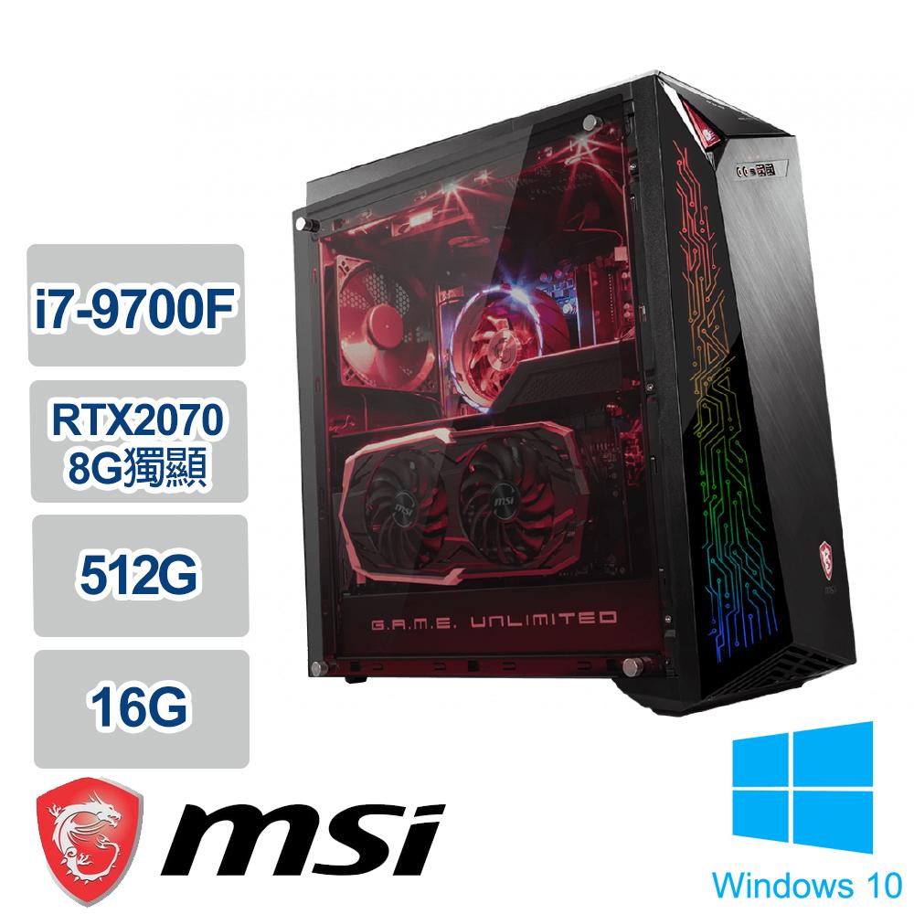 《MSI 微星》Infinite A 9SD-851TW(i7-9700F/16G/512GB PCIe SSD/RTX2070/Win10/三年保)
