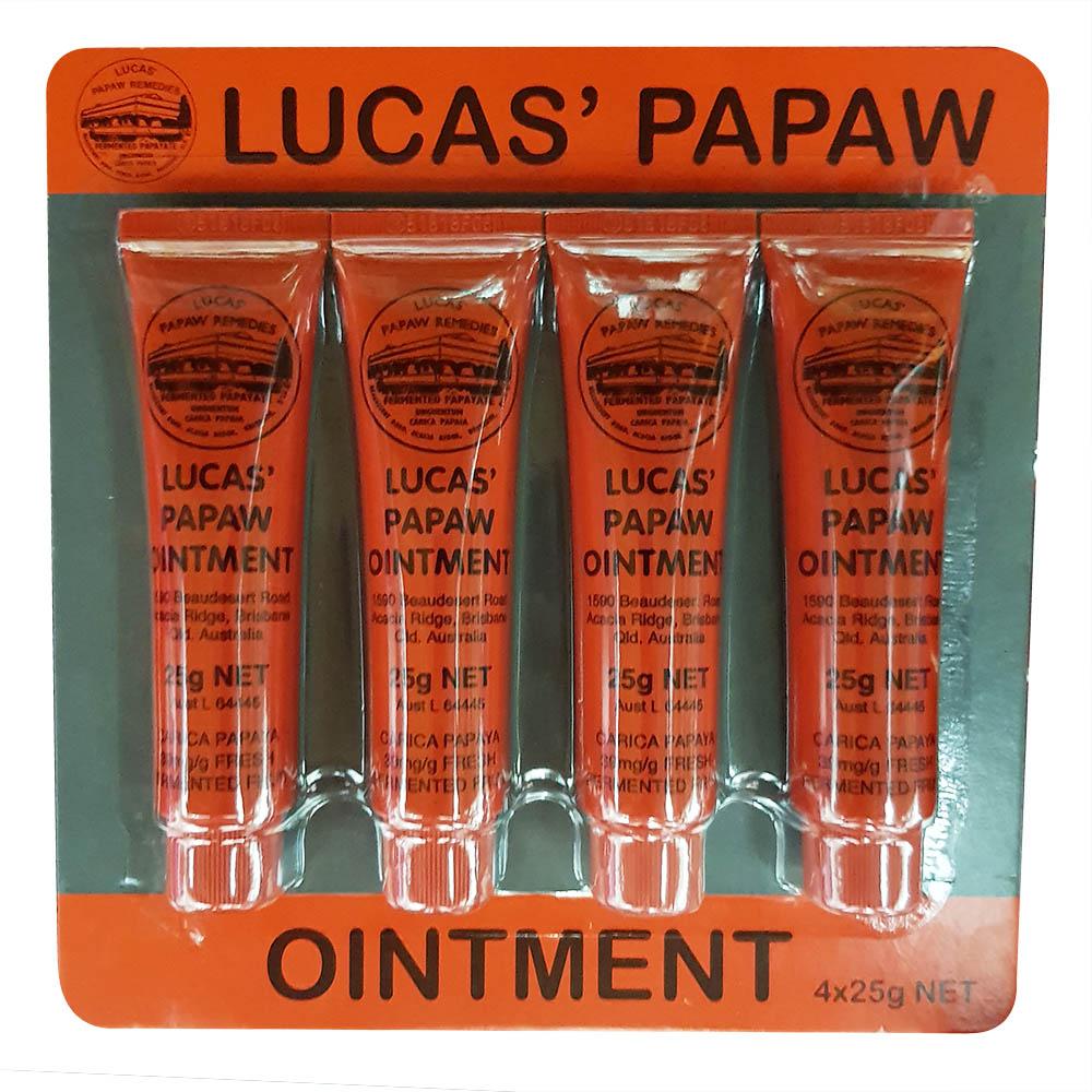 LUCAS PAPAW OINTMENT 澳洲 木瓜霜 25g 4入組