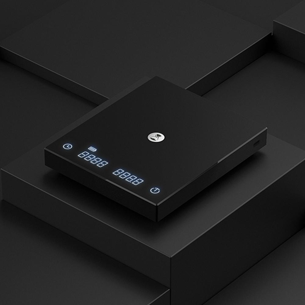 TIMEMORE泰摩黑鏡BASIC手沖咖啡大師LED觸控秤重計時電子秤 -黑 (可USB TYPE-C充電)
