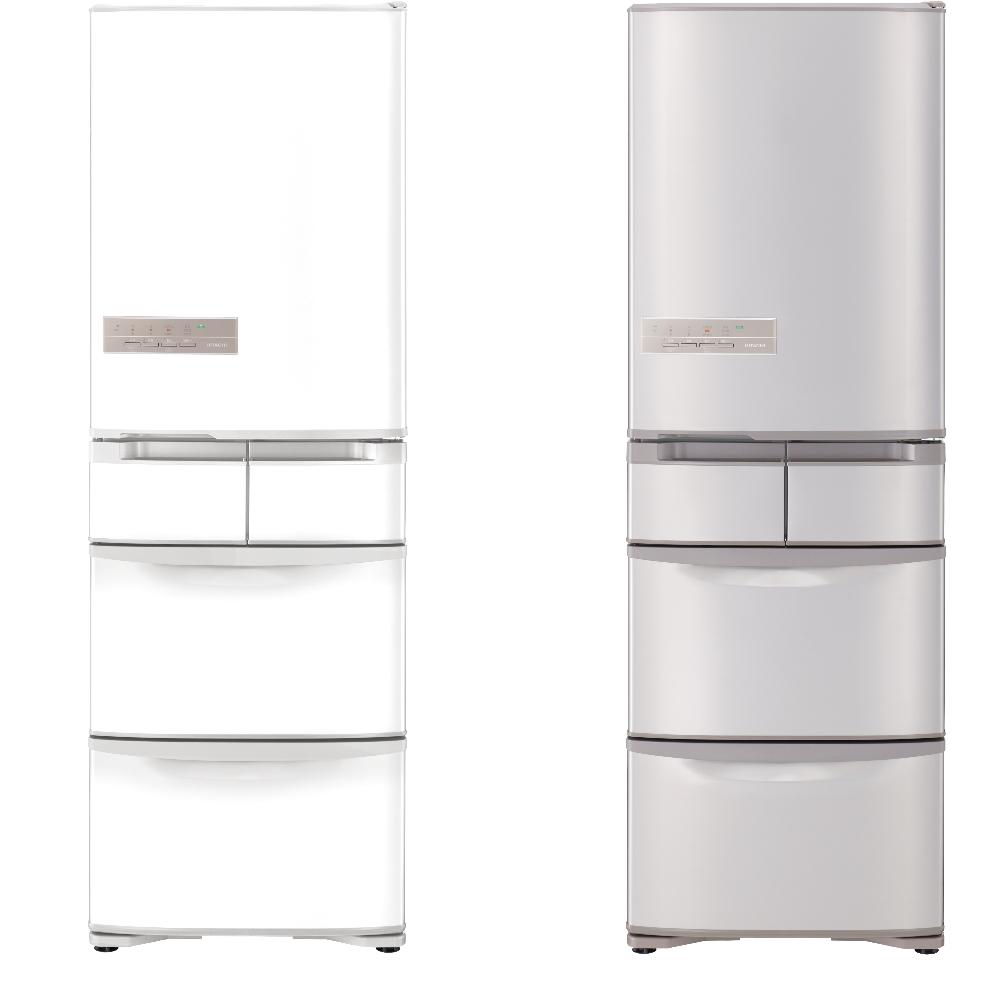 【HITACHI 日立】 407L日製變頻左開電冰箱 RS42HJL-香檳不銹鋼
