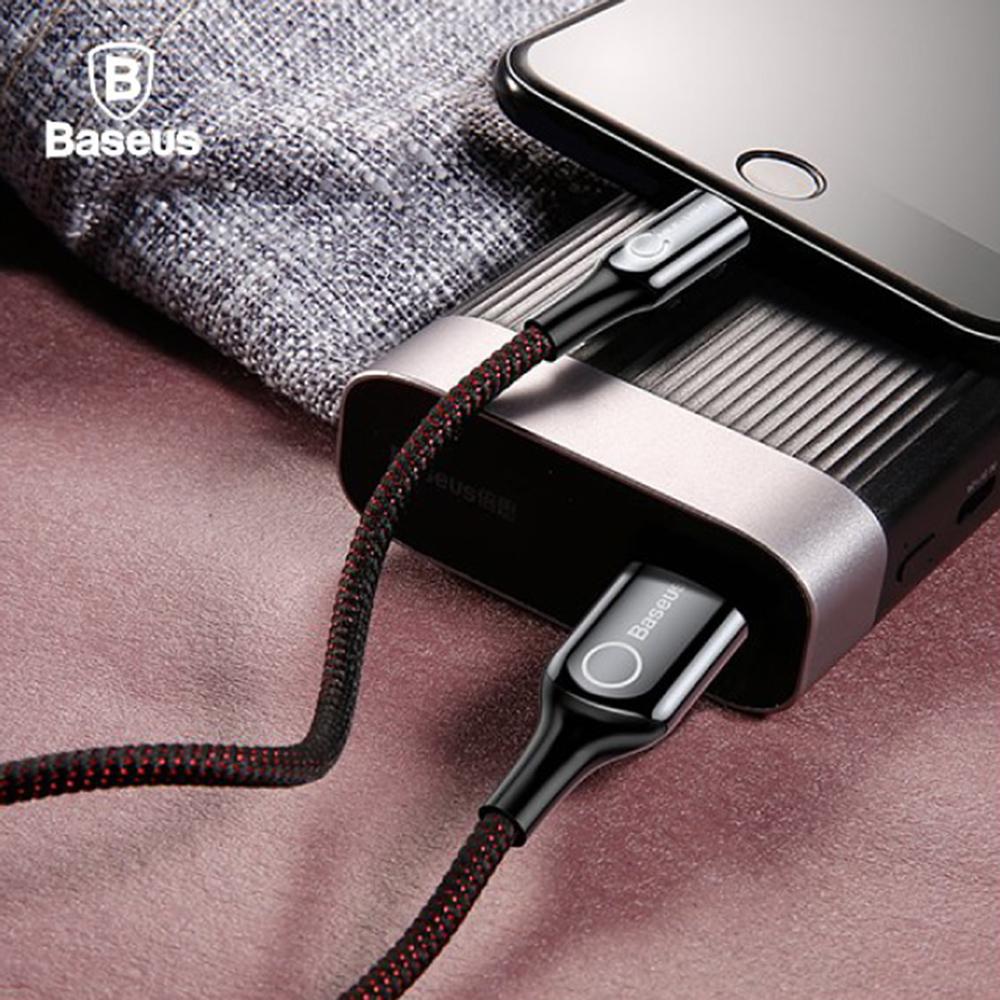 Baseus 倍思 C形燈智能斷電IOS數據線 - 黑色