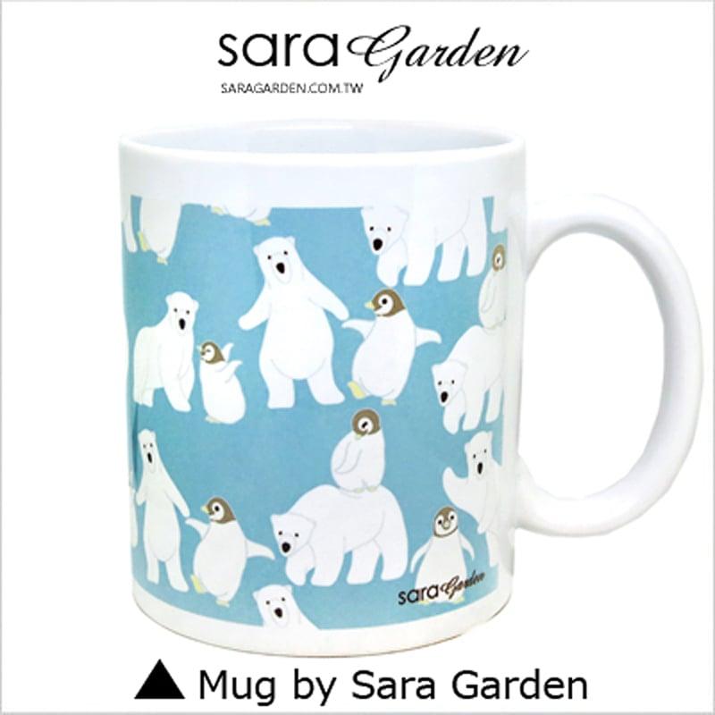 【Sara Garden】客製化 陶瓷 馬克杯 咖啡杯 手繪可愛北極熊企鵝