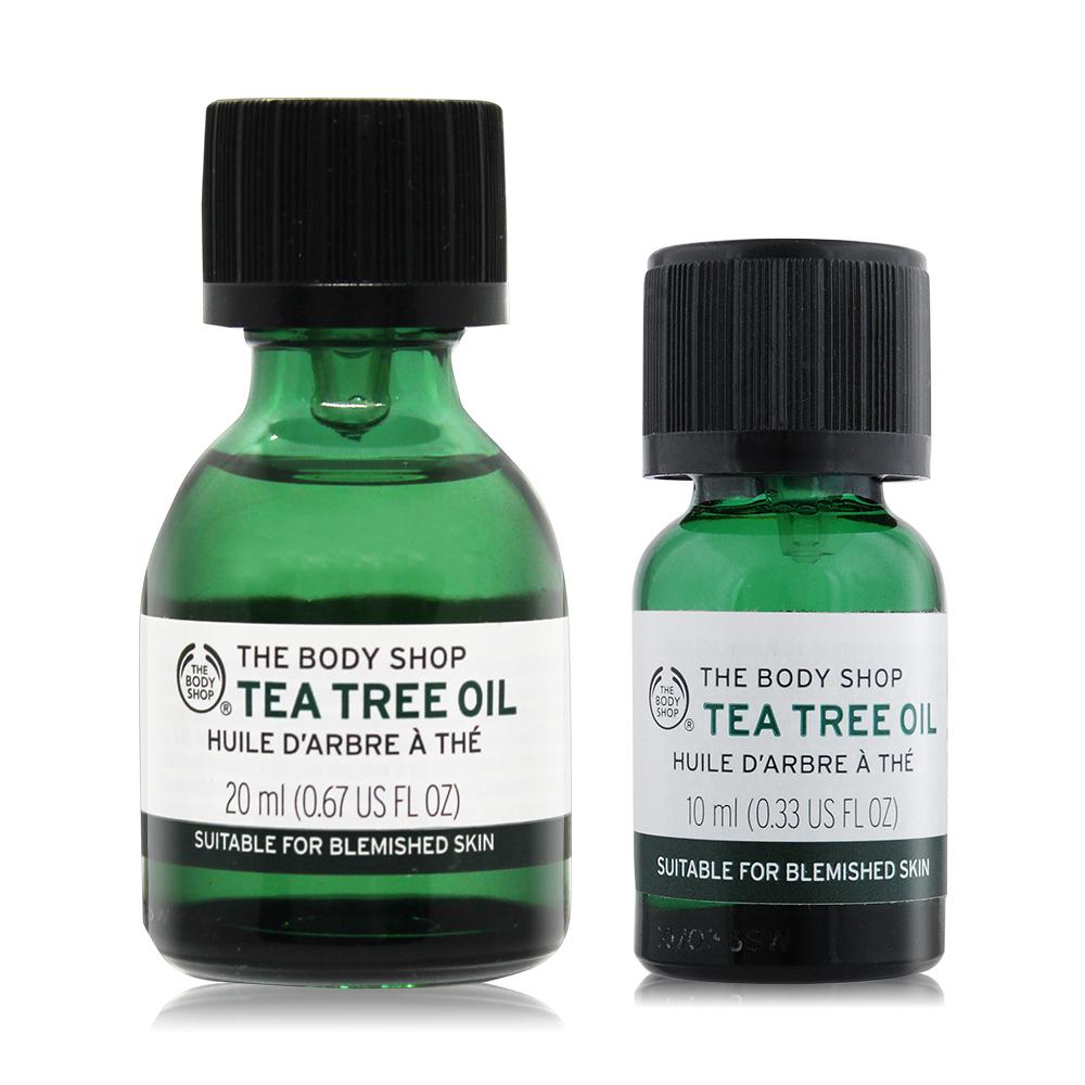 THE BODY SHOP 天然茶樹淨膚精油組(茶樹精油-20ML+10ML)