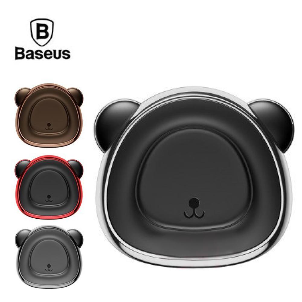 Baseus 倍思 小熊磁吸車載出風口支架 - 棕色