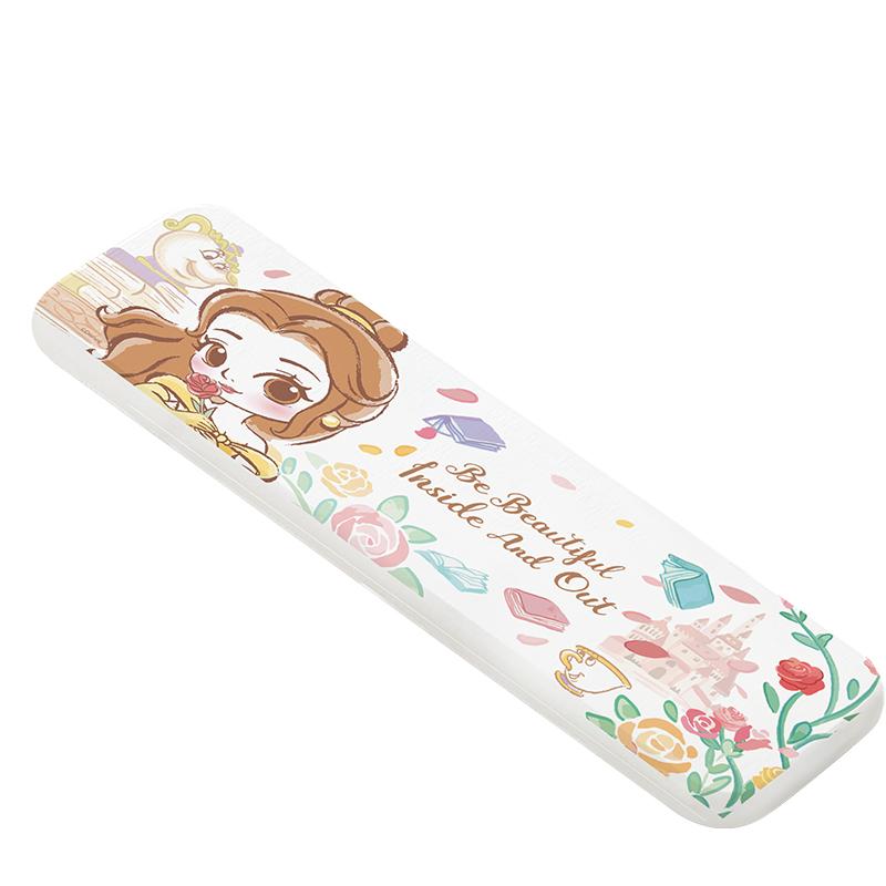 【收納王妃】迪士尼公主童話風珪藻土吸水洗漱墊-Q版貝兒(橫)
