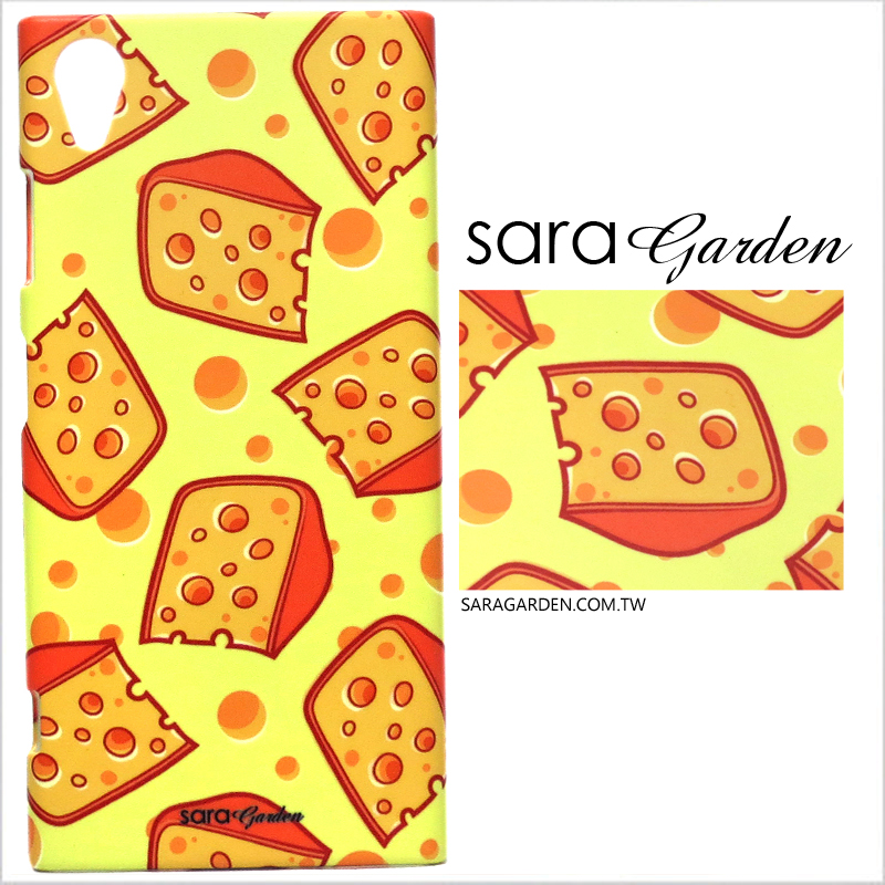 【Sara Garden】客製化 手機殼 SONY XA2 Ultra 手繪滿版起司 手工 保護殼 硬殼