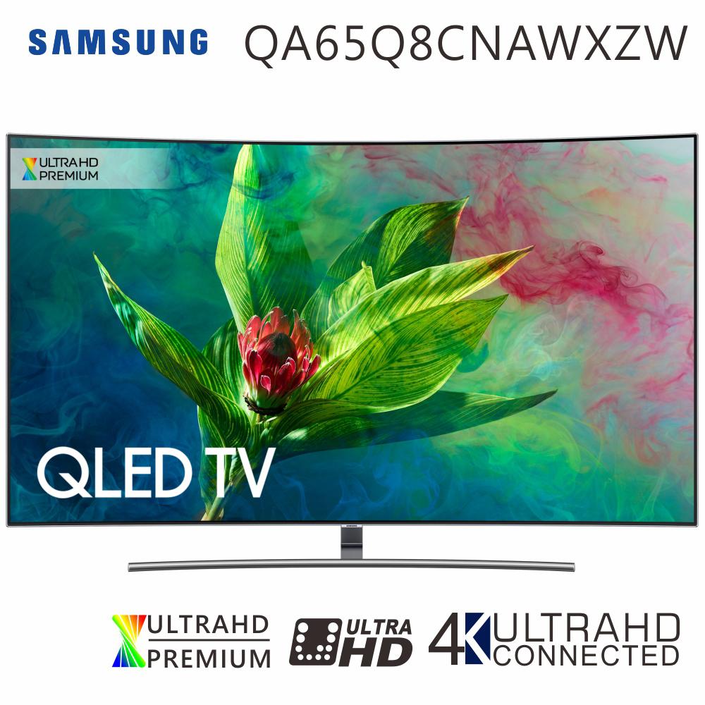 【送基本安裝+海爾藍牙聲霸組】SAMSUNG三星 65吋 4K QLED曲面量子聯網液晶電視(QA65Q8CNAWXZW)
